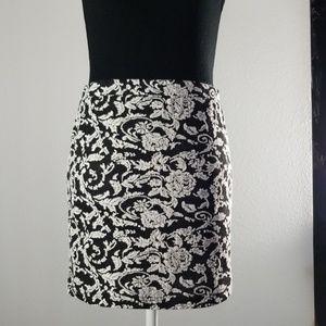 Jack Black & White Rose Skirt - Preloved